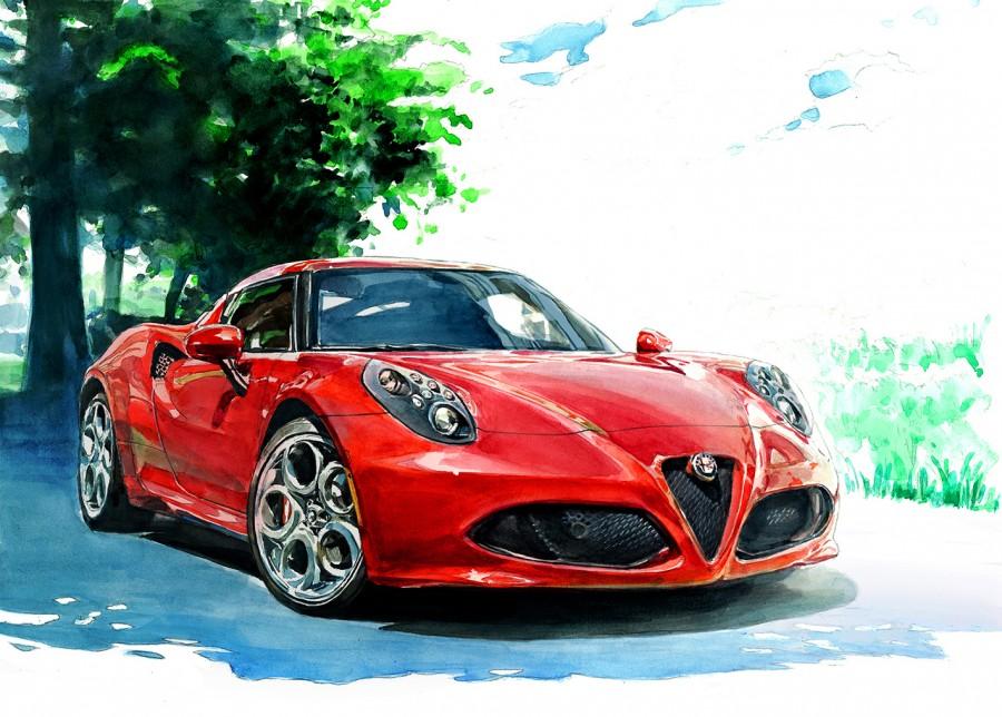 Alfa Romeo 4c M M Illustrations